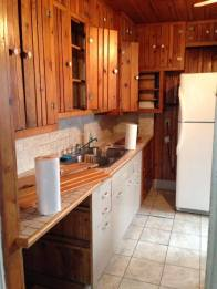 Flip House Kitchen BEFORE - Knotty Pine anyone?