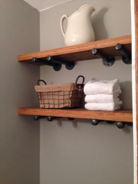 Bathroom Shelves - Pinterest is Cowboy's real life nightmare . . . I had to have these!